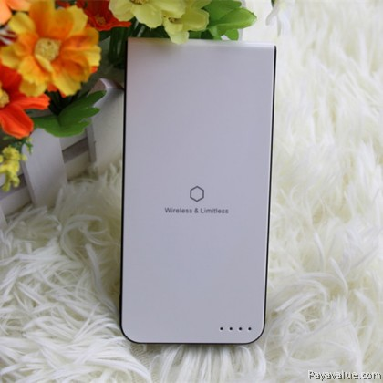 Qi Wireless Ultra Slim Limitless Charger Transmitter 5000mAh Mobile Powerbank MP030 ip8 ipX - White