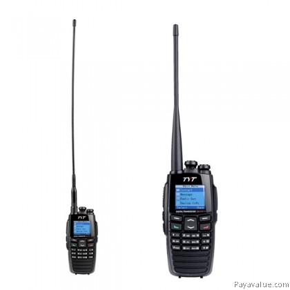 TYT DM-UVF10 DPMR Digital Walkie Talkie VHF+UHF 136-174 400-470MHz 5W 256CH VOX Scan Digital Dual-Band Two Way Radio (1PC)