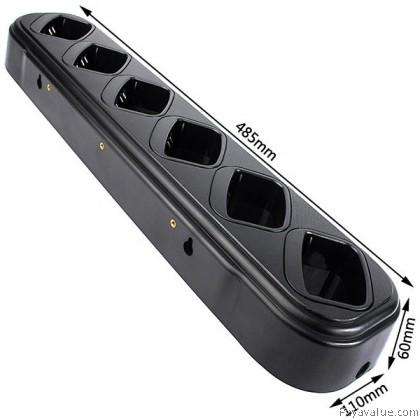 6-way Universal Rapid Charger for Baofeng UV-82 2-Way Radio Walkie Talkie
