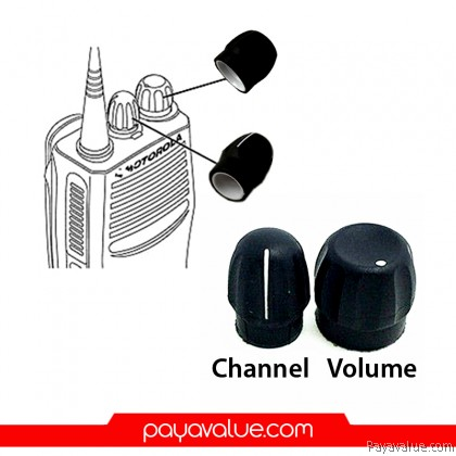 Volume & Channel Knob for MOTOROLA GP328/338 Two-Way Radios Walkie Talkie - 1PAIR