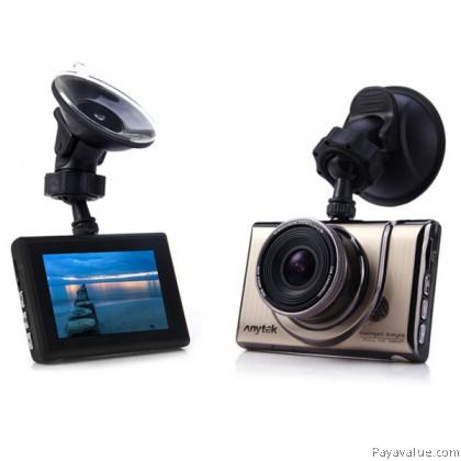 Anytek A100+ 30FPS 1080P Full HD 170° Wide-Angle G-SENSOR WDR 3-inch Car DVR Camera Video Recorder - Gold