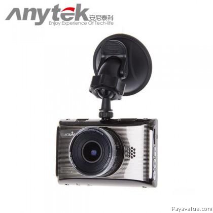 Anytek X6 30FPS 6G Lens FHD NTK96650 170° Wide-Angle G-SENSOR WDR 3-inch Car DVR Camera Video Recorder - Gold