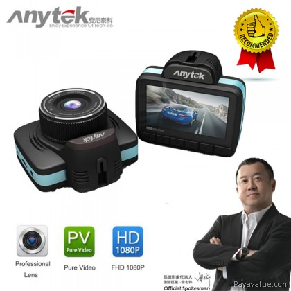 "Anytek A200 1080P 30FPS 2.7"" TFT PTCV1248 140 Degrees High-definition Wide Angle Lens Motion Detection Car DVR Camera Video Recorder - Black/Blue"