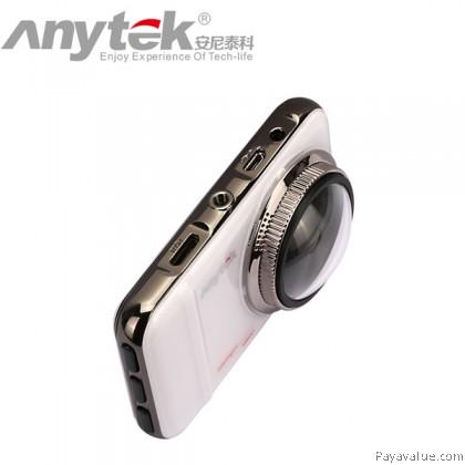 Anytek A1 6G Lens 30FPS 1080P FHD 170° Wide-Angle G-Sensor 3-inch Car DVR Camera Video Recorder - White