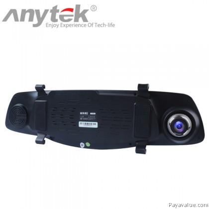 Anytek X3 Dual Camera Rearview Mirror 6G Lens 1080P FHD 170?? Wide-Angle Night Vision G-Sensor 4.3-inch WDR Car DVR Camera Video Recorder