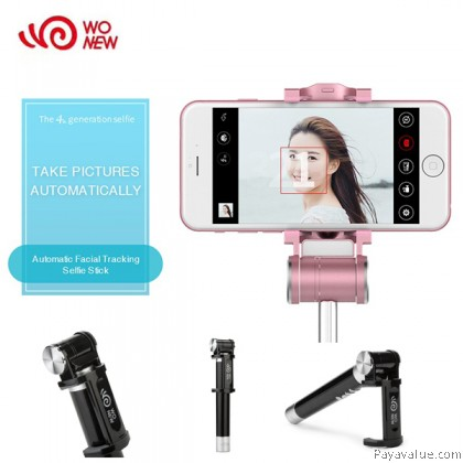 WONEW BR17 Automatic Shot Face Recognition Facial Tracking Bluetooth Selfie Stick Monopod for IOS and Android