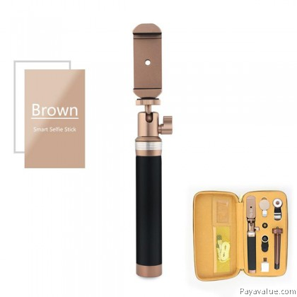 WONEW BR15 Multi-Function Detachable Bluetooth Shutter Mobile Monopod Selfie Stick Travel Kit for iOS and Android