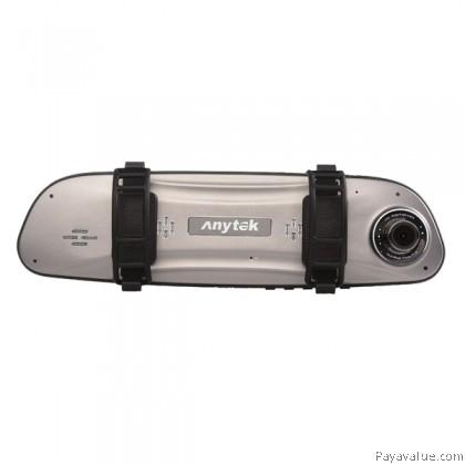 "VREC Anytek G77 HD 1080P 4.5"" Dual Camera Rearview Mirror Touch Screen Super Night Vision G-sensor Double Recording Car DVR Camera Video Recorder"