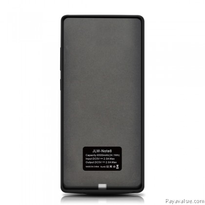 Tcom JLW 6500mAh Ultra Slim External Battery Case Smart Charger Powercase for Samsung Note 8