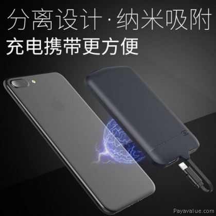 Tcom 4000mAh BDR-DT02 Nano Adsorption Suction Magnetic Battery External Charger Powerbank with Type-C for Android Huawei Sony