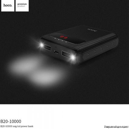 Tcom Hoco B20 10000mAh Dual USB Outputs Fast Charge Torch Light PowerBank