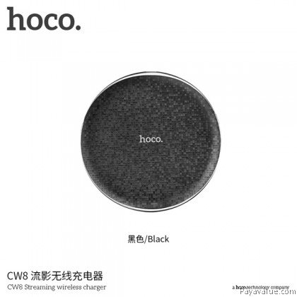 Tcom HOCO CW8 Mosaic Qi Wireless Ultra Slim Charge Charging Pad for Smartphones Samsung ip8 ipX-Black