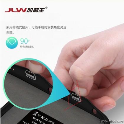 Tcom JLW Samsung S9 Plus 6000mAh Ultra Slim External Battery Case Smart Charger Powercase- Black