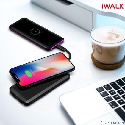 Tcom iWalk Scorpion Air 12000 Power Bank Wireless Charging  Black & White