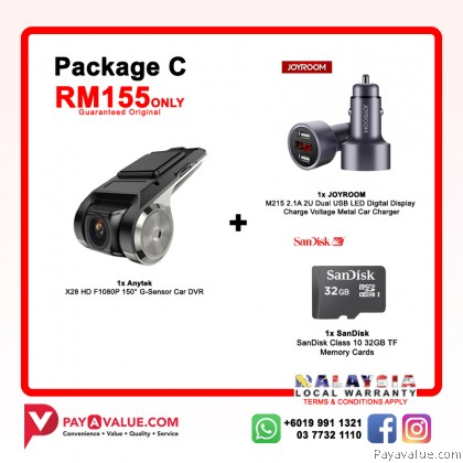 Anytek X28 HD F1080P 150° G-Sensor l ADAS l Full HD 1080P l Mobile Apps Connect H.264 Car Recorder DVR
