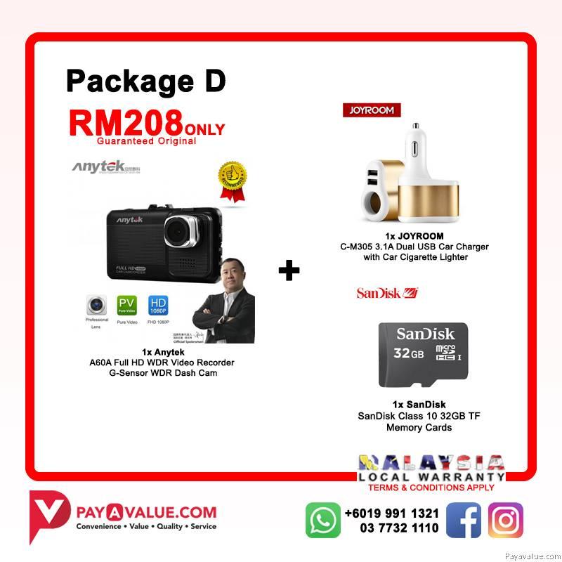 Anytek X28 HD F1080P 150° G-Sensor l ADAS l Full HD 1080P l