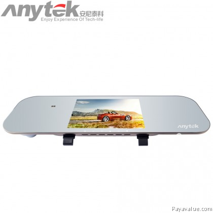 Anytek A80+ 1080P HD 5 Inch Dual Lens Car DVR Camera Video Recorder Rearview Mirror Camcorder Car-Styling