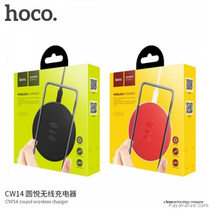 Tcom Hoco CW14 5V/2A Qi Standard Wireless Charging Pad With LED Light for iPhone Samsung. (android & ios)