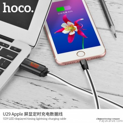 Tcom Hoco U29 Micro-USB l Lightning l Type-C LED Displayed Timing Lightning Charging Cable