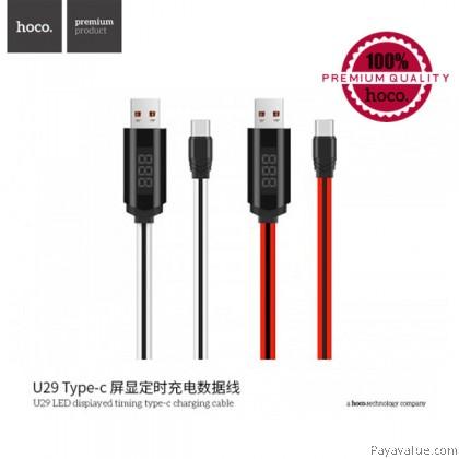 Tcom Hoco U29 Type-C LED displayed timing Lightning Charging Cable