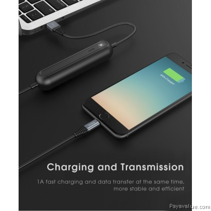 Tcom Hoco U22 Lightning l Type-C l Micro-USB Lightweight Portable 2000mAh Powerbank External Battery Charger With 1.2M TPE 8 Pin Data Charging Cable