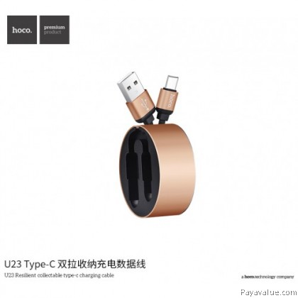 Tcom HOCO U23 ORIGINAL Aluminum alloy (Micro) USB RESILIENT COLLECTABLE CHARGING CABLE