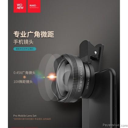 Wonew NG2 Smartphone Proffessional Camera 0.45X + 10X Macro Lens
