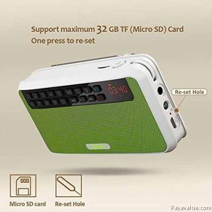 Rolton E500 Mini Stereo Bass Dual Track Charging Bluetooth Speakers FM Radio *ENGLISH VERSION*
