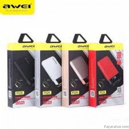 Awei P52K Dual USB Powerbank 10000mAh LED display