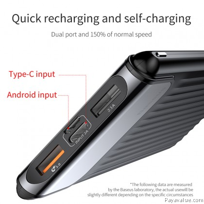 Baseus 10000mAh Quick Charge 3.0 Smart Powerbank with Dual USB