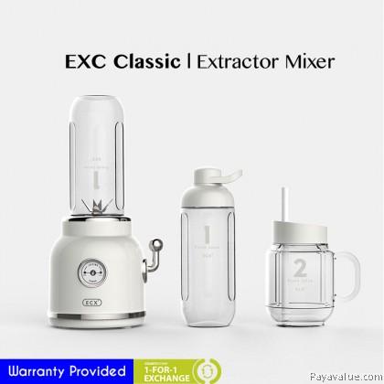 Classic ECX Retro Portable Juicer Extractor Mixer Double Cups