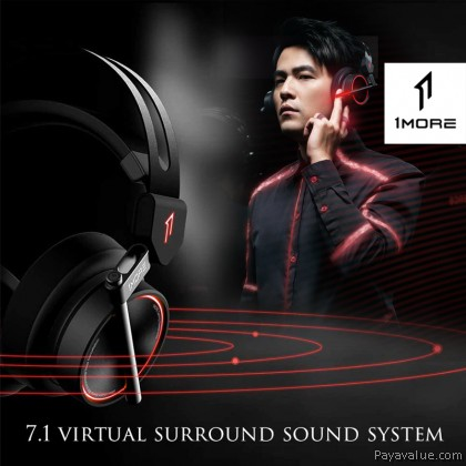 1MORE H1005 Gaming Headset 7.1 Surround Sound Game Headphones LED Light Earphone with Microphone for PC Computer Gamer PS4