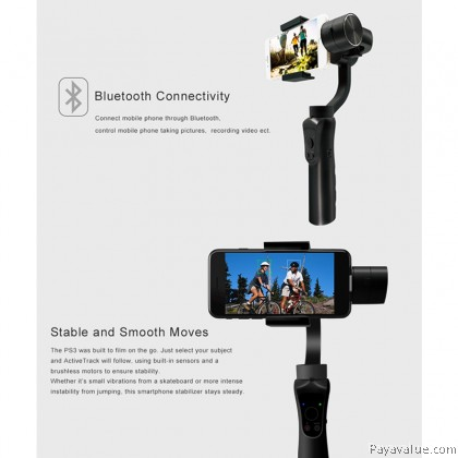Anytek PS3 smartphone camera Handheld Gimbal Gyro Stabilizer with APP