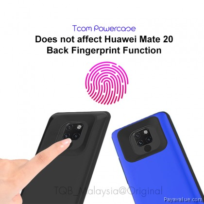 Tcom Huawei Mate 20 6500mAh l Mate 20 Pro 6800mAh Powercase External Power Bank Back Case Slim Shockproof Silicone Soft Frame Cover