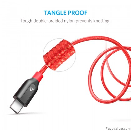Original Anker A8168 Type-C 3.0 Fast Charging Cable PowerLine+ C to USB 3.0
