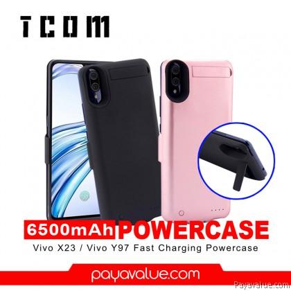 Tcom VIVO X23 I VIVO Y97 6500mAh Fast Charge & Shockproof Powercase Cover