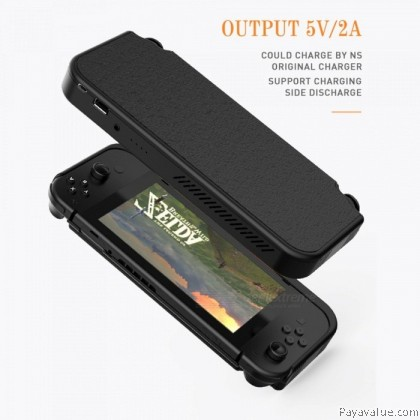 TCOM For Nintendo Switch 10000mAh Powercase External Back Clip Battery Case