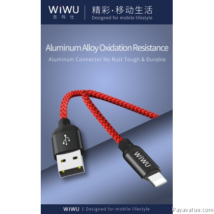 Original Wiwu Atom 2.4A Fast Charging & Sync Cable for IOS / Android