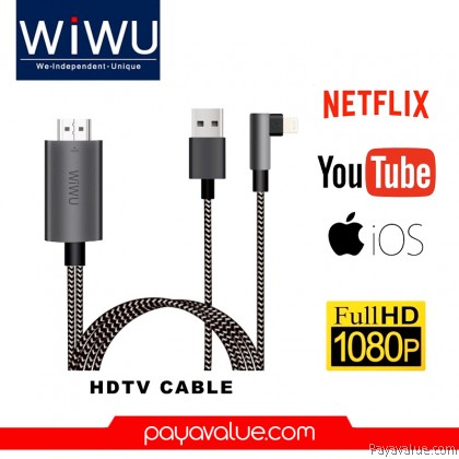 WiWU X7 iPhone HDMI HD 1080P 4K Charging HDTV Video Cable Adapter to TV Special Born For Apple User