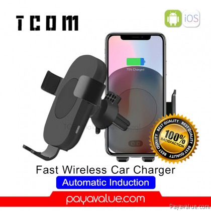 2in1 10W Fast Wireless Car Charger Automatic Induction Car Mount Holder