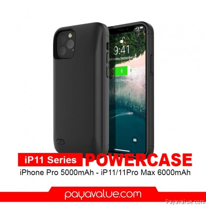 JLW Iphone 11 / iPhone 11 Pro 6000mAh PowerCase iPhone 11 Pro Max Battery Case Powerbank Travel Friendly