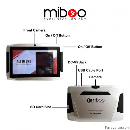 Miboo Kids Video Youtube Tablet 7' inch Android Cool Gadget Tablet Kids Education Birthday Gift